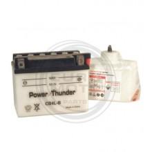 Batería Power Thunder CB4L-B con ácido